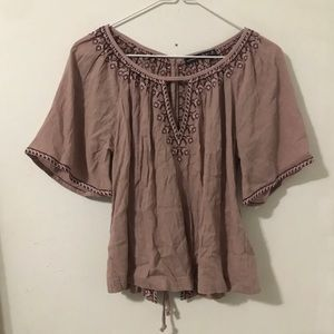 Abercrombie and Fitch purple blouse NWT